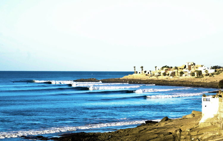 Surfing anchor Point 2 in Morocco