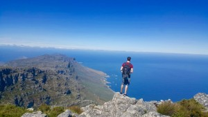 On top of Table Mountain Cape Town