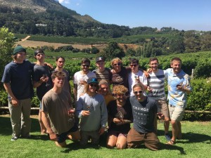 Boys at wine tasting Cape Town