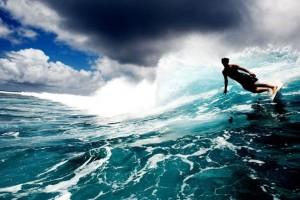 David Rastavich surfing