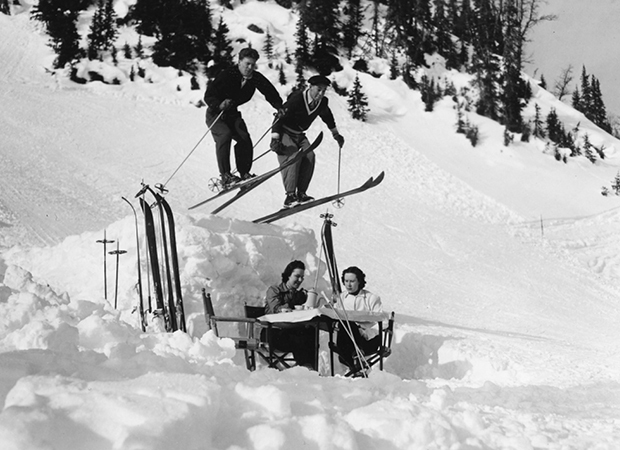 Skiing in Banff 1960's