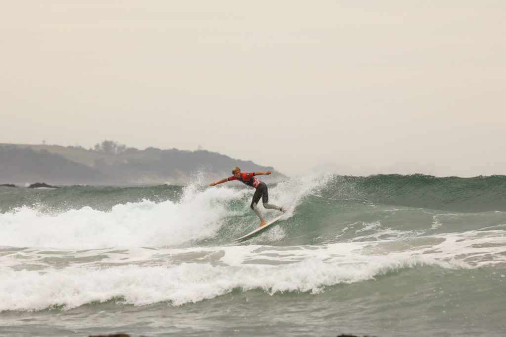 Fun waves in Coffee Bay