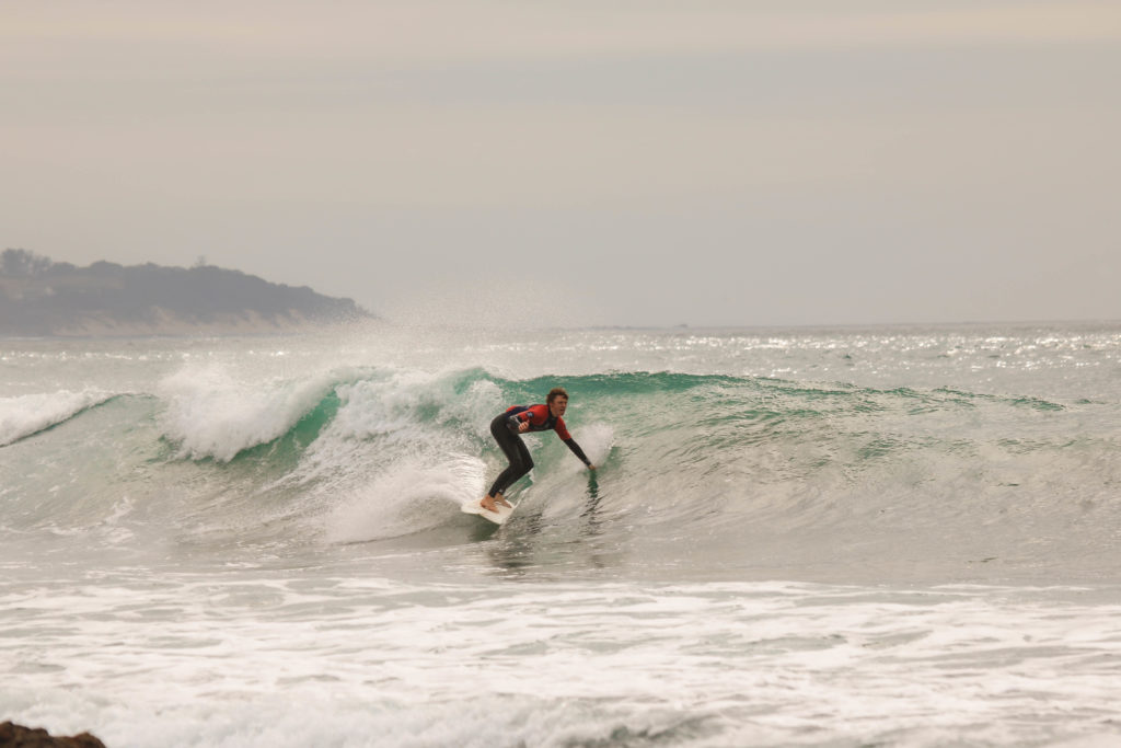 Learning to surf in coffee bay
