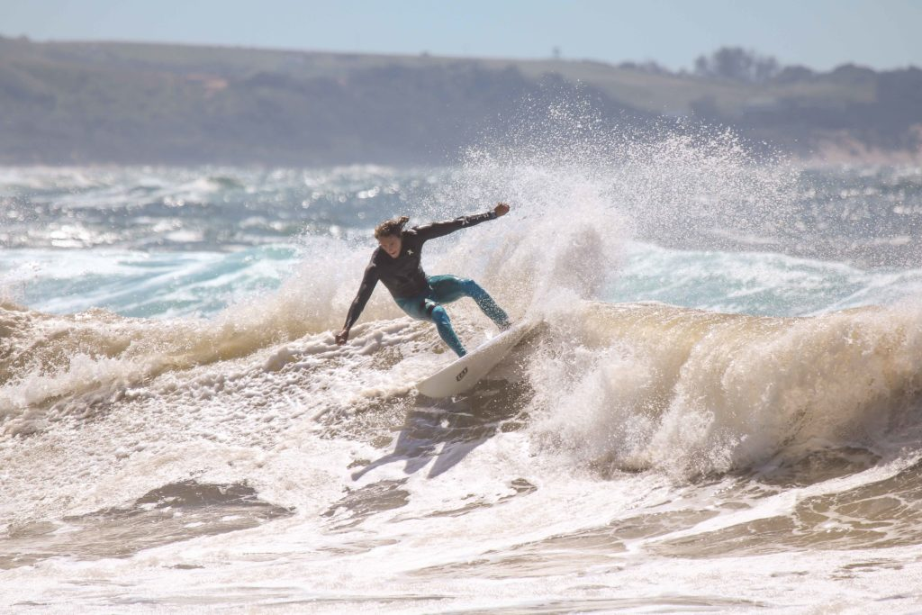 Man surfing waves in Coffee bay
