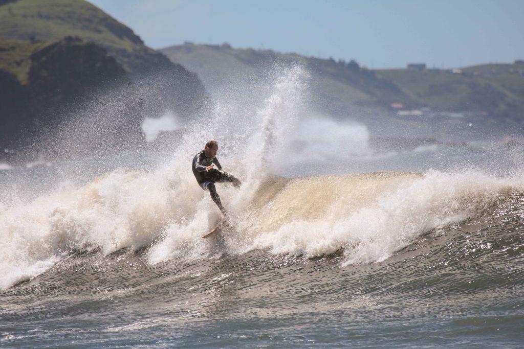 Chris Bond surfing coffee bay